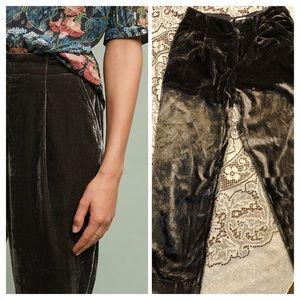 Ett : Twa | Anthropologie crushed velvet trousers